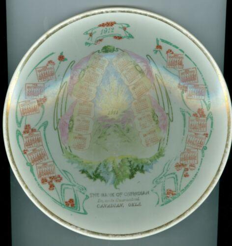 1912 Bank of Canadian, Canadian, Oklahoma, Ceramic Calendar Plate