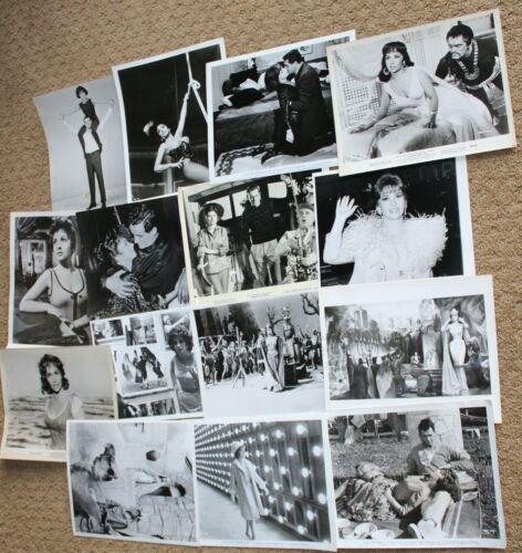 Gina Lollobrigida VINTAGE ORIGINAL LOT OF PRESS KIT PHOTO PHOTOGRAPH