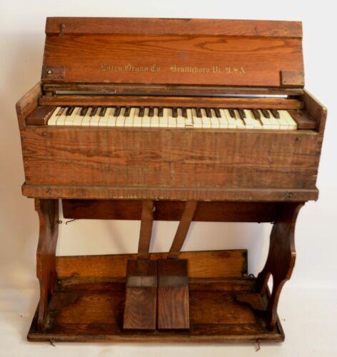 1910 Estey Model JJ Oak Folding Portable Reed Organ • CompleteBut Not Working
