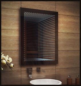 neu 3d tunneleffekt design led spiegel badezimmerspiegel. Black Bedroom Furniture Sets. Home Design Ideas