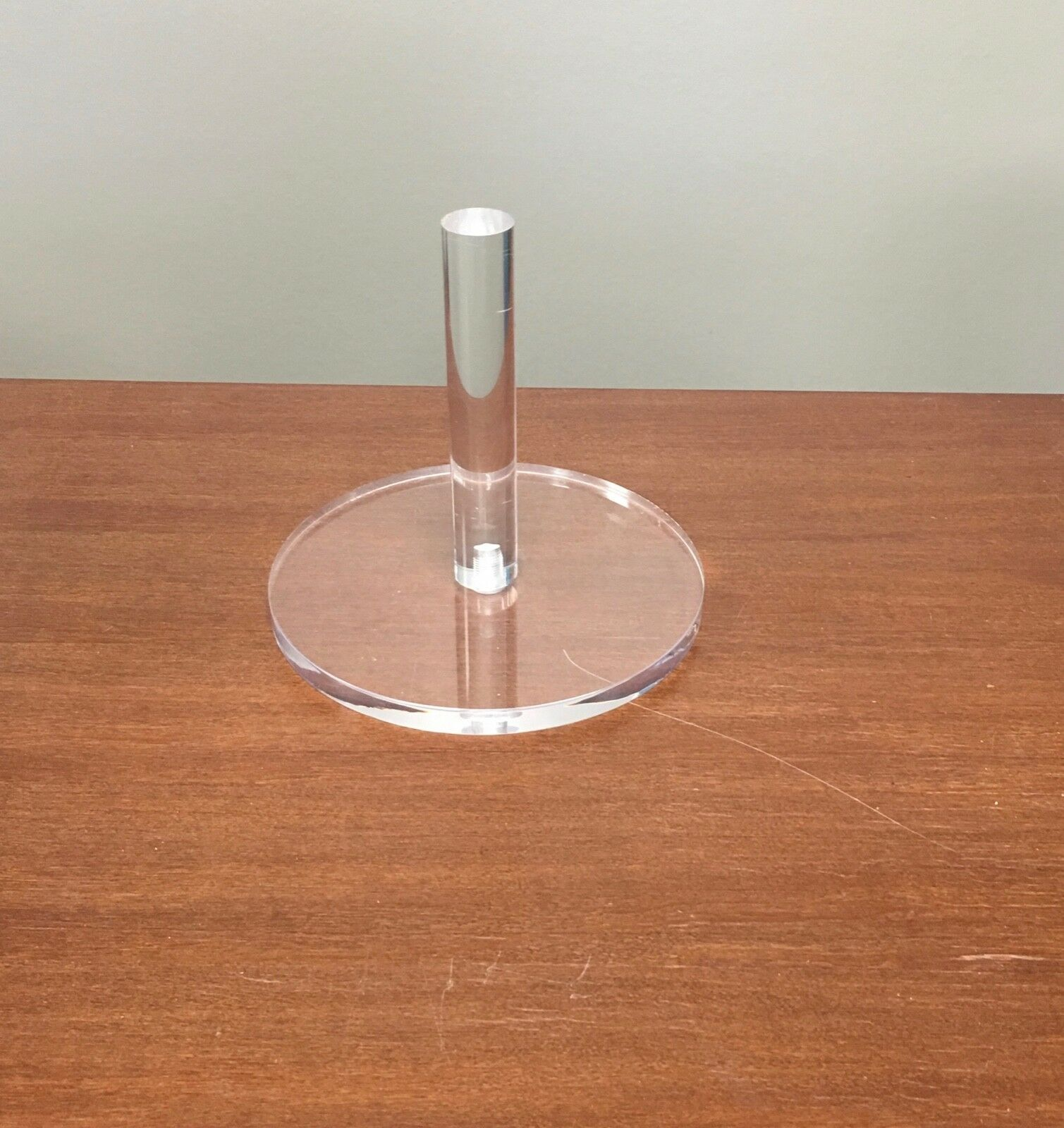 socle cristal de presentation pour tetes mannequins