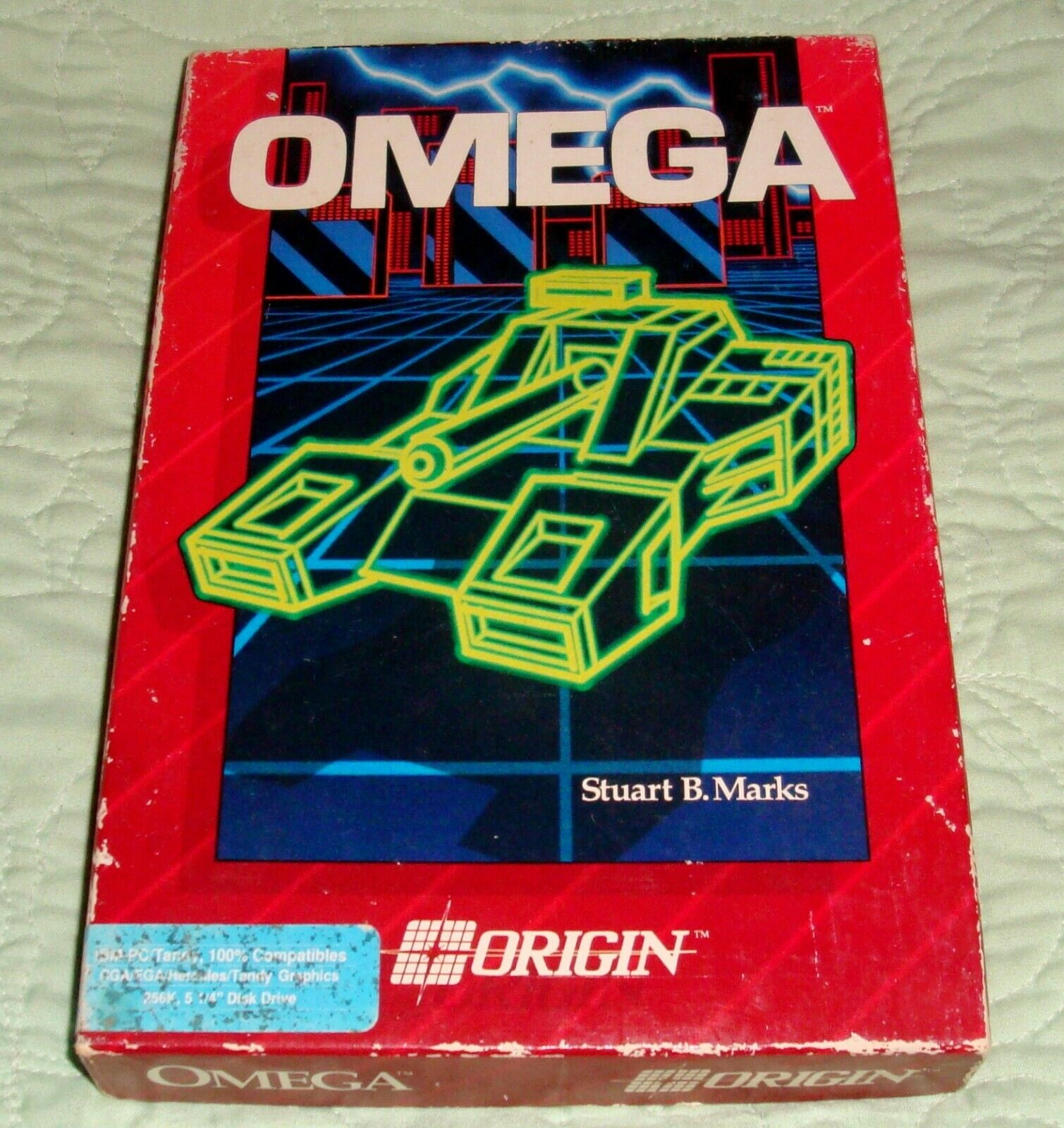 """Computer Games - OMEGA by Origin Vintage IBM PC Computer Stategy Game on 5 1/4"""" 1989"""