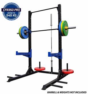 Squat Half Rack 75x75x3mm Heavy Duty Commercial + Pull Up Bar NEW