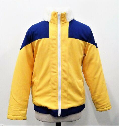 Anime Uzumaki Naruto Youth Yellow/Blue Jacket Casual Cosplay Costume Size L