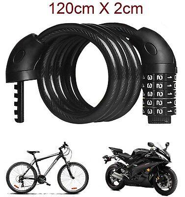 Cadena Candado para moto bicicleta cable de 120 X 2cm combinación 5...