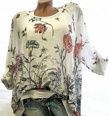 Gr.44-46-48 Lässiges Tunika Marti (Weiß) Pullover Bluse Shirt XXL Lagenlook