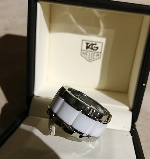 Tag Heuer White Ceramic Diamond Ring