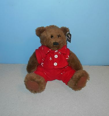Proflowers 8  Sitting Christmas Flake Teddy Bear Stuffed Plush Lovey Cuddle Pal