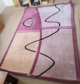 Violet Plum Wool Rug