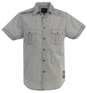 Mens short sleeve dress shirts ebay for Mens two pocket short sleeve shirts