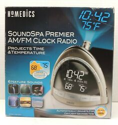 NEW Homedics SoundSpa Premier Clock Radio Nature Sound Projection SS-5010