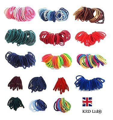 12 x Quality Girls Hair Elastics Bobbles Bands Ties School Ponios Thick Thin B3