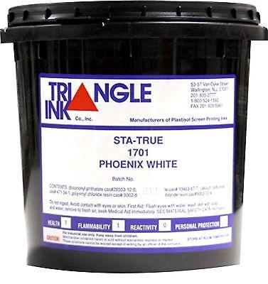Triangle Ink Sta-true 1701 Phoenix White Screen Printing Ink Quart