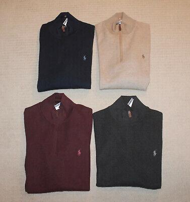NEW Polo Ralph Lauren Big and Tall Pony Logo Half Zip Luxury Cotton Sweater  Half Zip Logo Sweater