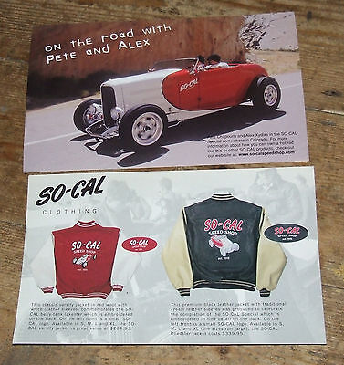 So-Cal Speed Shop  Street Rod Advertising Flyers 1998
