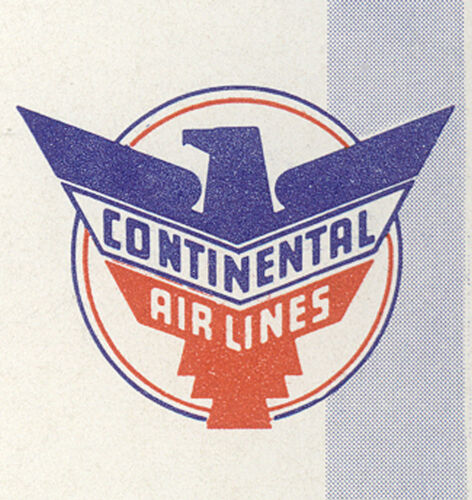 1956 CONTINENTAL AIRLINES ~ CALENDAR ~ BLOTTER, UNUSED AND BEAUTIFUL  C787