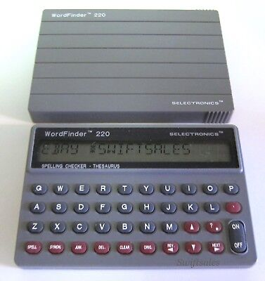 Selectronics HH220 WordFinder 220 - Excellent Condition - New Maxell Batteries