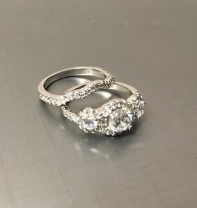 925 Sterling Silver Ring Set