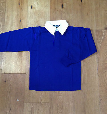 Rugby Shirt / P.E. Kit Blue Acrylic School Brand New Size 34 Inch < Q63