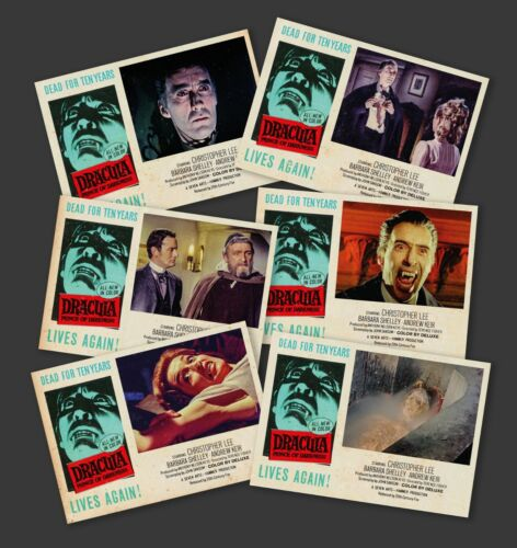 DRACULA - PRINCE OF DARKNESS - FOH Lobby cards set HAMMER HORROR FILMS