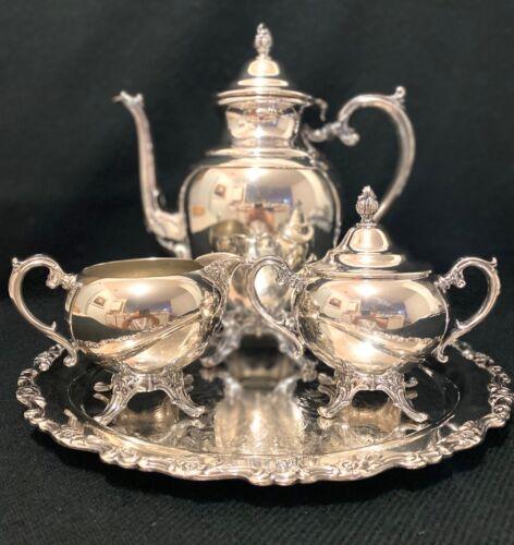 WM Rogers Coffee Tea Pot Set silver plated