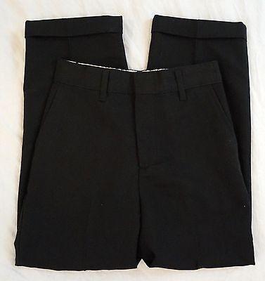 New Claiborne Flat Front Elastic Waist Boys Black Dress Pants Size 7R (Boys Elastic Waist Dress Pants)