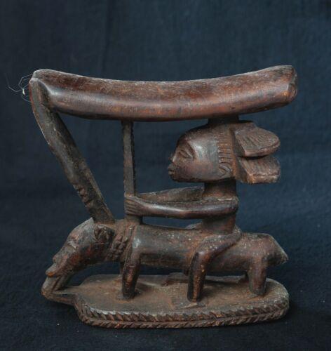 Luba Head Rest, Democratic Republic of Congo, Central African Tribal Arts