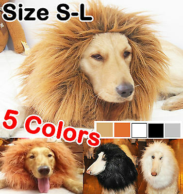 Pet Costume Lion Mane Wig for Dog Cat Halloween Clothes Festival Fancy Dress up
