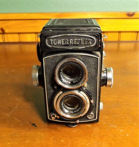 Vintage Tower Reflex Camera by Walz Camera Co. 1:3.5, f=7.5cm, Works