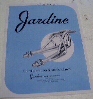 1968 Jardine  Super Stock Header Catalog- 4 pages  Dyno Don mercury Cyclone