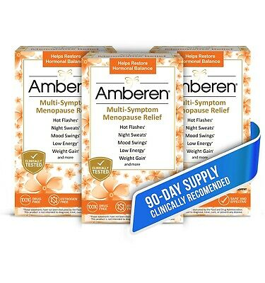 Amberen (Official Store) Multi-Symptom Menopause Relief - 3x Box (90 Day Supply)