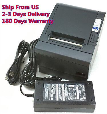 Epson Tm-t88iv M129h Pos Thermal Receipt Printer Usb Port W Ps-180 Power Supply
