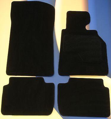 BMW E60 5 SERIES ALL MODELS 03 10 MANUAL GBOX BLACK CAR FLOOR MATS  4 x PADS
