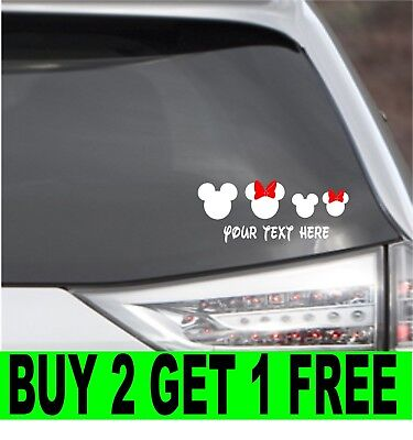 Personalized MICKEY MOUSE EARS Decal family Custom Vinyl Sticker Car Window - Mickey Mouse Custom