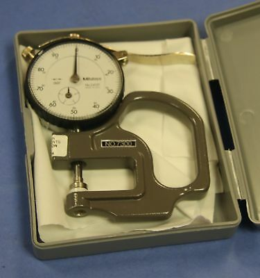 1 Used Mitutoyo 7300 Dial Thickness Gage Graduations 0.001 Range 0-0.4
