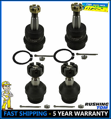 4 Pc Set Front Upper And Lower Ball Joints Jeep Wrangler Cherokee K3134 K3137