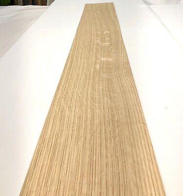 White Oak Heavy Flake Wood Veneer 5 Sheets 67.5 X 8.5 19.50 Sq Ft