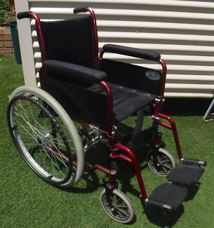 wheelchair Red good condition used works find