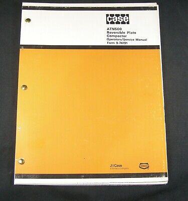 Case Atn500 Reversible Plate Compactor Service Repair Operator Manual Book List