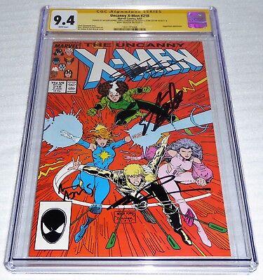 Uncanny X-Men #218 4x CGC SS Signature Autograph STAN LEE CLAREMONT ADAMS Jugger
