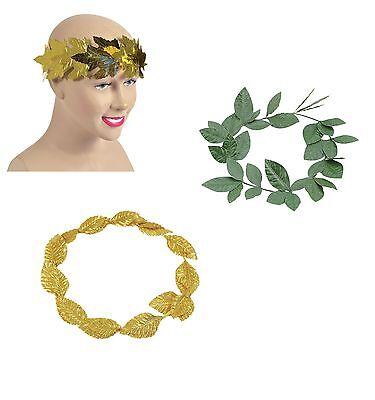 Antike # Römisch Griechisch Laurel Stirnband Gold & grün Kostüm Rom Zubehör