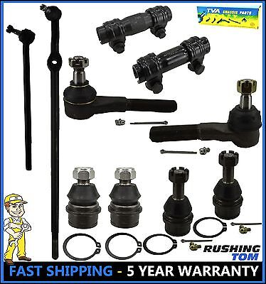 10Pc Complete Front Suspension Steering Kit For 1995 F150 1994 Ford 1996 Bronco