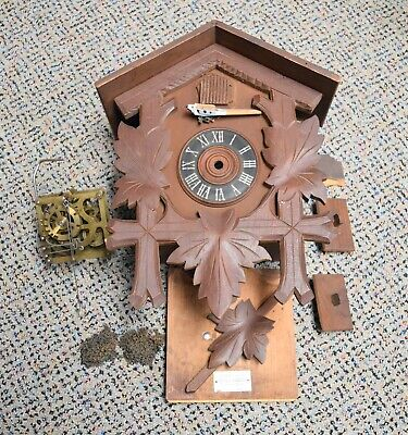 Vintage / Antique Cuckoo Clock Josef Lun Clock Made in Germany - Project Clock!