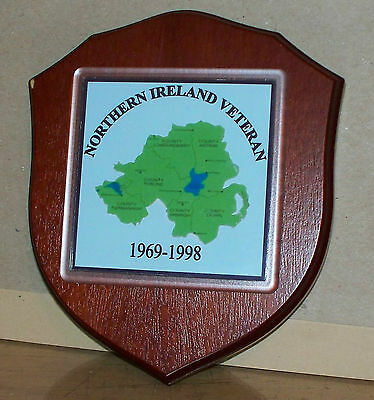 Armed Forces Veteran Northern Ireland  Wall Plaque personalised