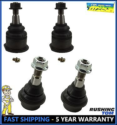Front Upper and Lower Ball Joints Kit 4Pc Set For Silverado Sierra Pickup Truck