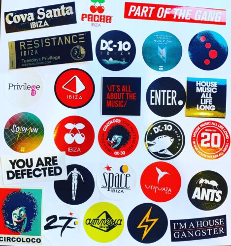 27 x Ibiza Stickers  - Music On Cocoon Circoloco Defected Paradise Enter Space