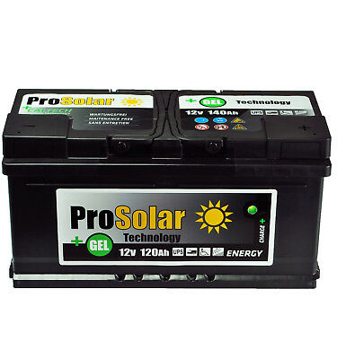GELBatterie 120Ah Solarbatterie 12V ProSolar GEL Wartungsfre statt 140Ah 110Ah