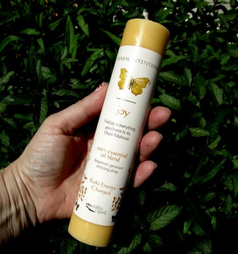 "NEW Paths of the Spirit Magic JOY Candle 7"" Pillar Herbal Reiki Charged"