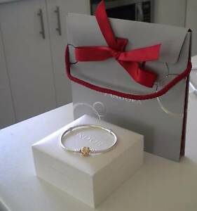 Pandora Silver 'Moments ' Bracelet 14ct Gold Clasp...19cm   NEW ! Jimboomba Logan Area Preview