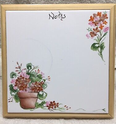 Hand Painted Kitchen White Ceramic Tile Dry Erase Board